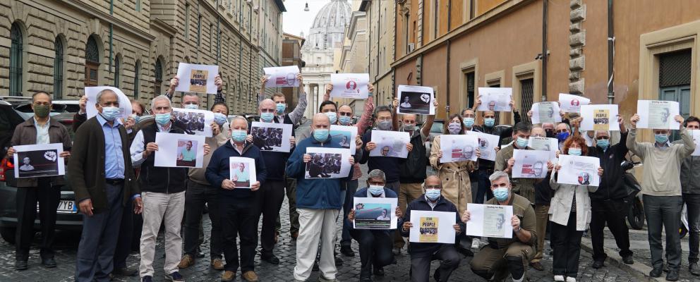 Compañero/as de Stan Swamy piden su liberación inmediata desde Roma (Cortesía de SJES)
